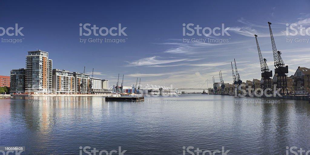 Royal Victoria Dock Basin, London stock photo