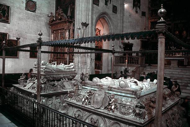 Royal Warrant of the Catholic Kings, Capilla Real de Granada stock photo