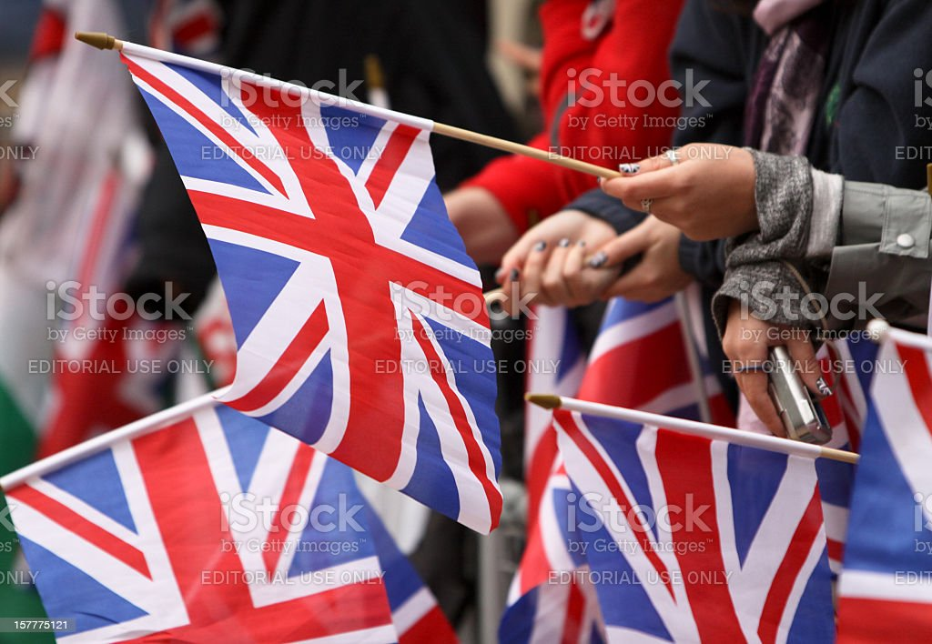 Royal Wedding 2011 in London, England royalty-free stock photo