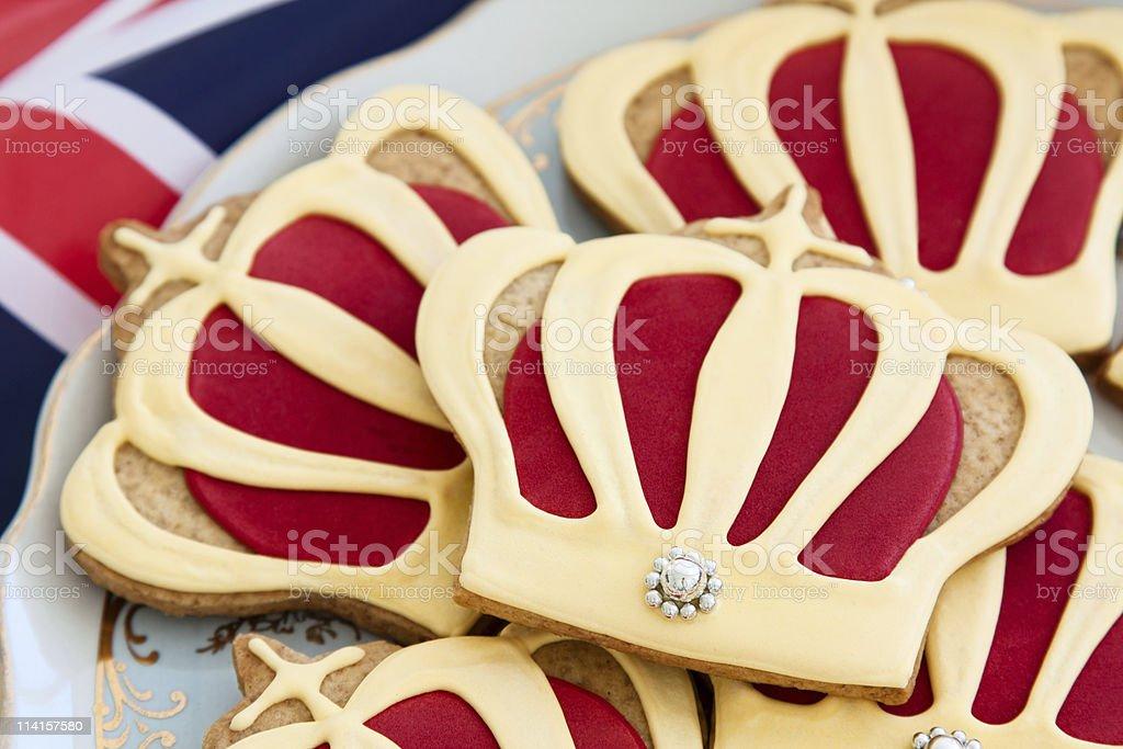 Royal wedding cookies royalty-free stock photo