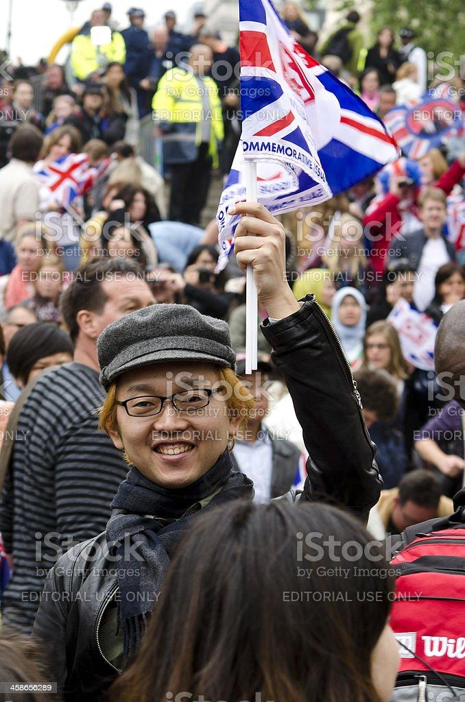 Royal Wedding crowd, London royalty-free stock photo
