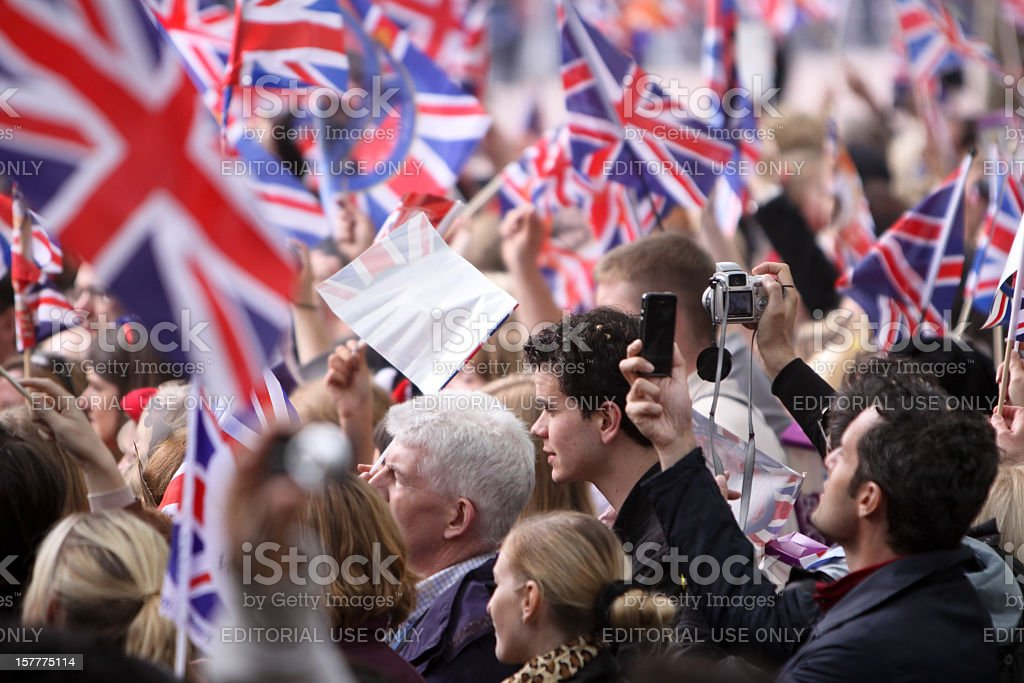 Royal Wedding in London, England stock photo