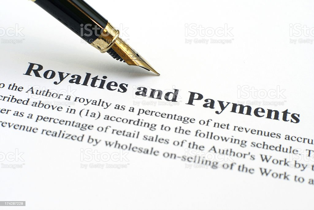 Royalties and payments stock photo