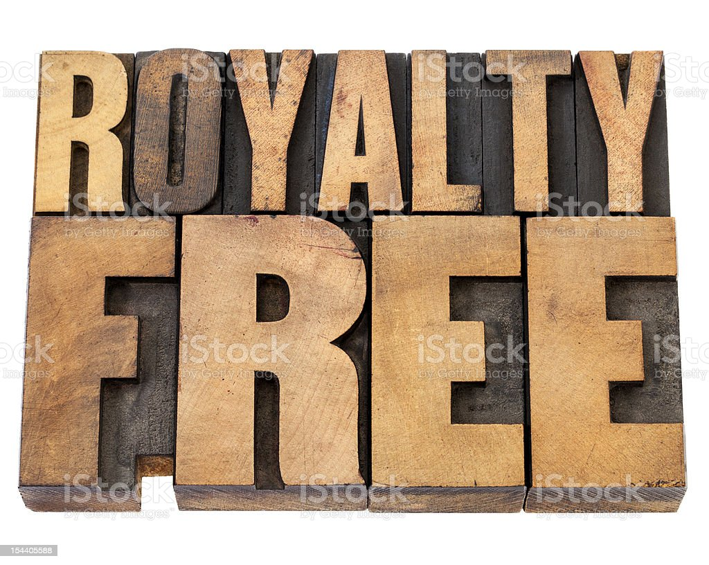 royalty free in wood type royalty-free stock photo