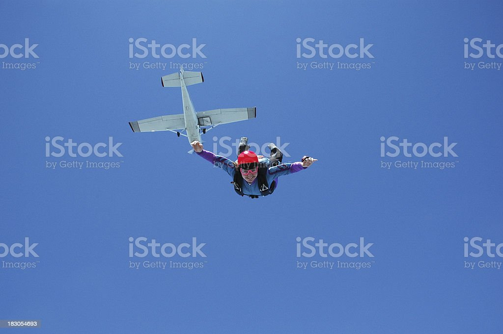 Royalty Free Stock Photo: Happy Woman In Freefall royalty-free stock photo