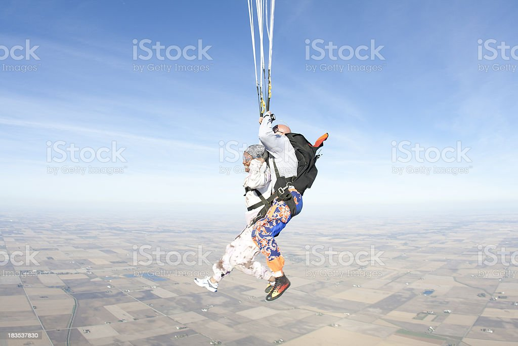 Royalty Free Stock Photo: Happy Woman Skydiving stock photo
