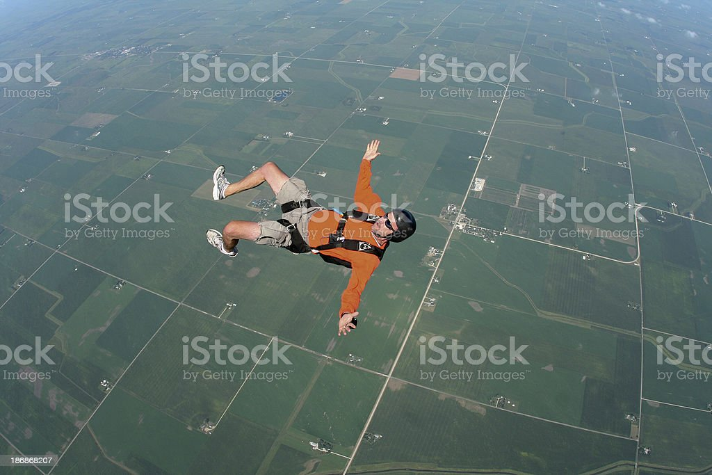 Royalty Free Stock Photo: Man in Freefall on His Back stock photo