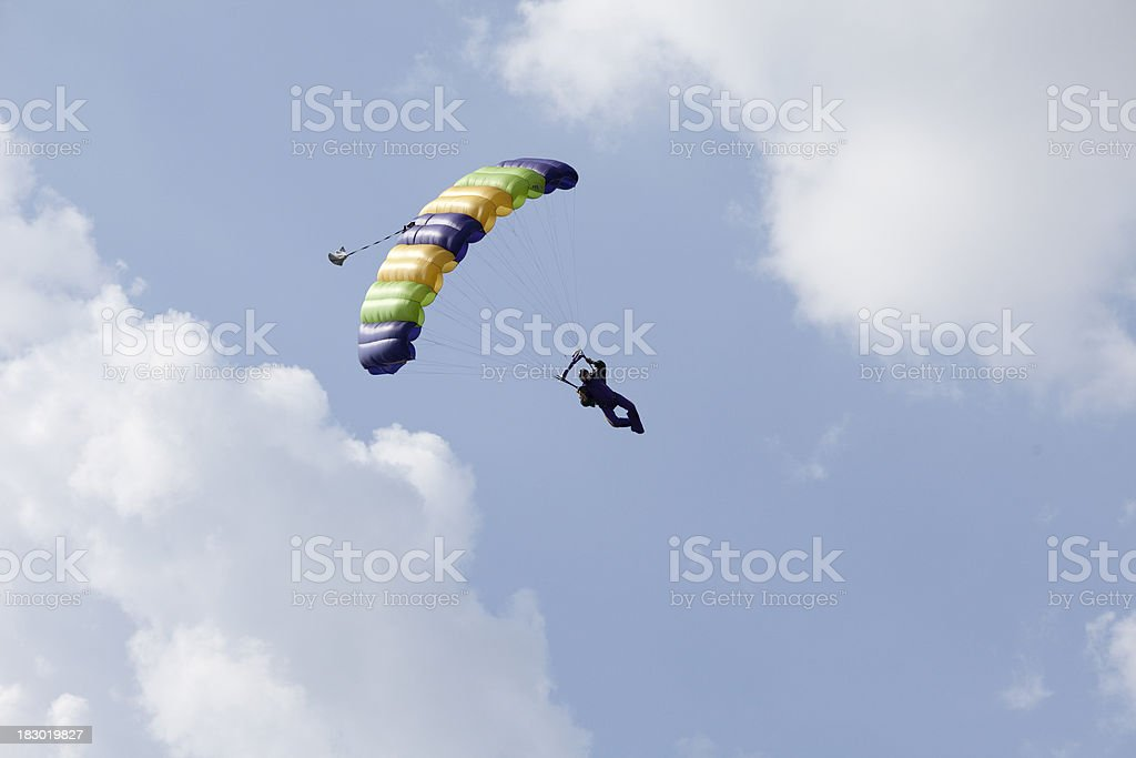 Royalty Free Stock Photo: Skydiver Flying His Parachute stock photo