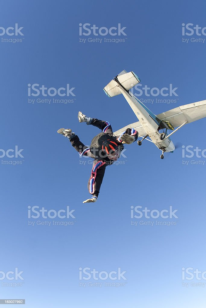Royalty Free Stock Photo: Skydiver in Freefall royalty-free stock photo