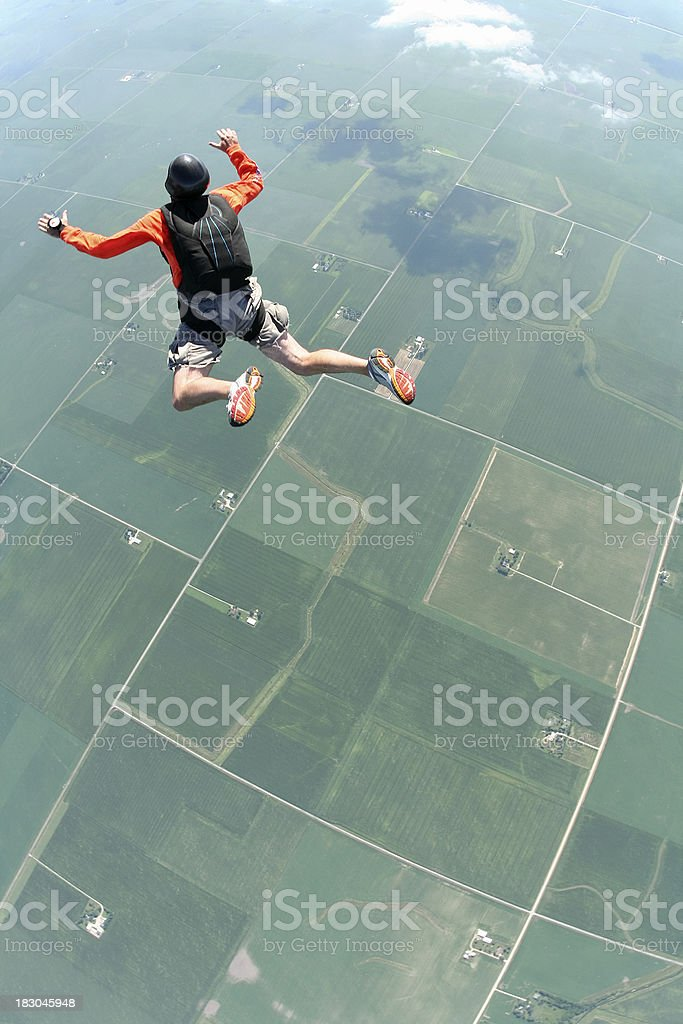 Royalty Free Stock Photo: Skydiver In Freefall stock photo