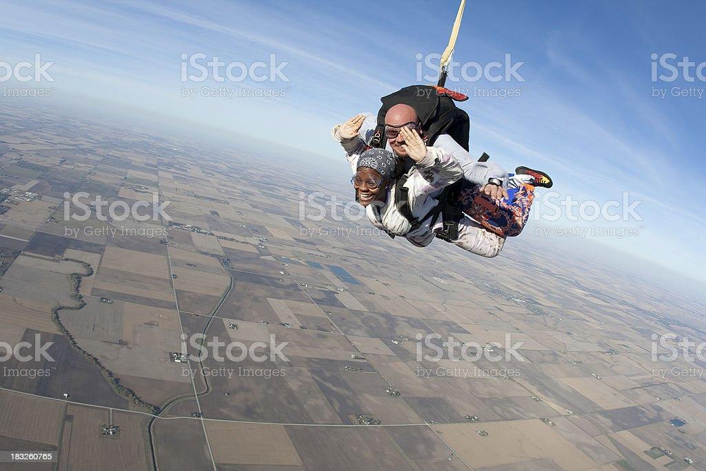 Royalty Free Stock Photo: Tandem Skydivers stock photo