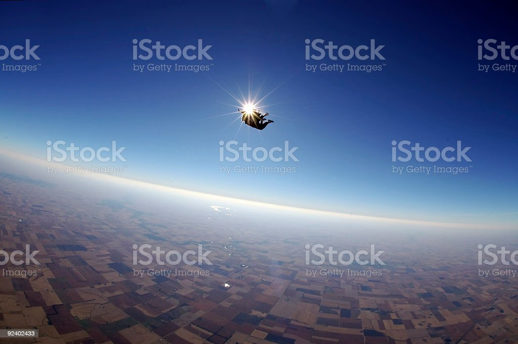 Royalty Free Stock Photo: Tandem Skydiving - Flying Together stock photo