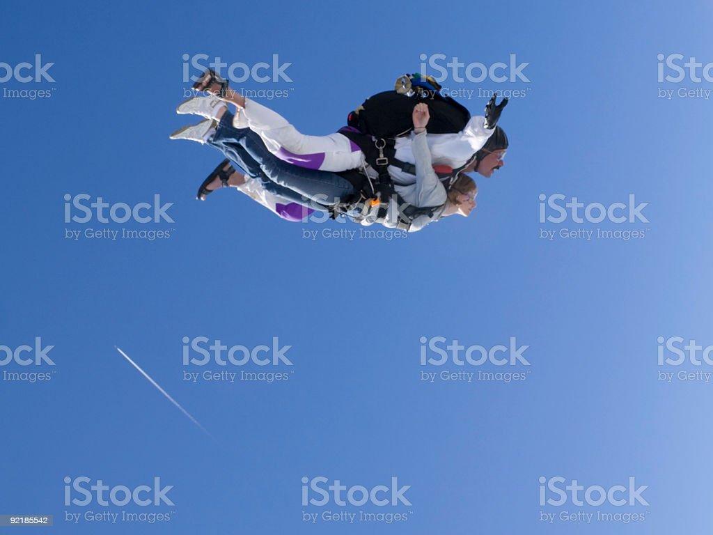 Royalty Free Stock Photo: Tandem Skydiving stock photo