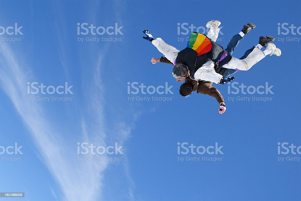 Royalty Free Stock Photo: Two Men Skydiving royalty-free stock photo