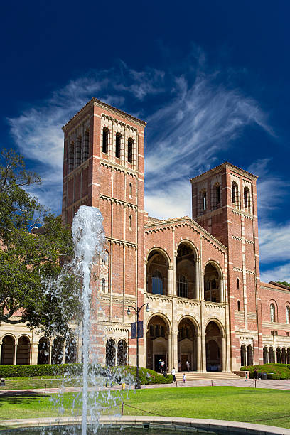 Royce Hall at UCLA Los Angeles, United States - October 4, 2014: Royce Hall on the campus of UCLA. Royce Hall is one of four original buildings on UCLA's Westwood campus. westwood neighborhood los angeles stock pictures, royalty-free photos & images