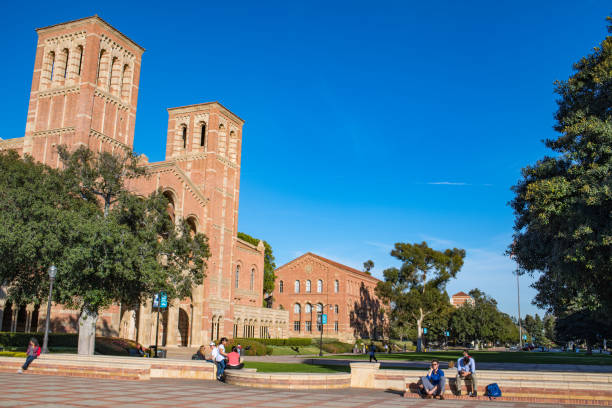 Royce Hall at UCLA Los Angeles, CA: January 26, 2018: Royce Hall on the University of California, Los Angeles, campus. Royce Hall was completed in 1929. westwood neighborhood los angeles stock pictures, royalty-free photos & images