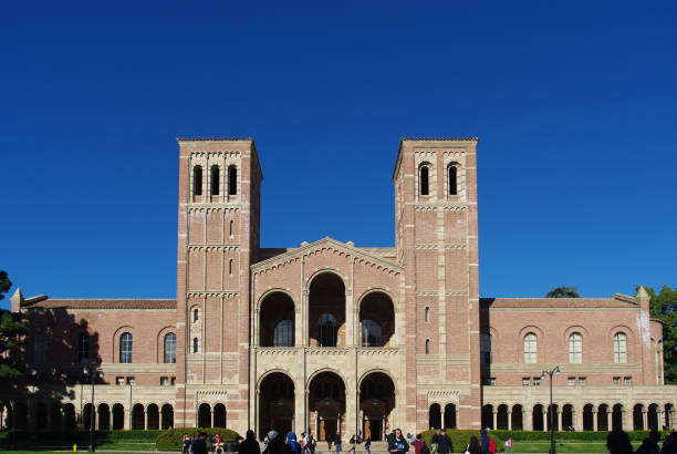 Royce Hall at UCLA Los Angeles, United States - January 5, 2011: Royce Hall on the campus of UCLA. Royce Hall is one of four original buildings on UCLA's Westwood campus. royce hall stock pictures, royalty-free photos & images