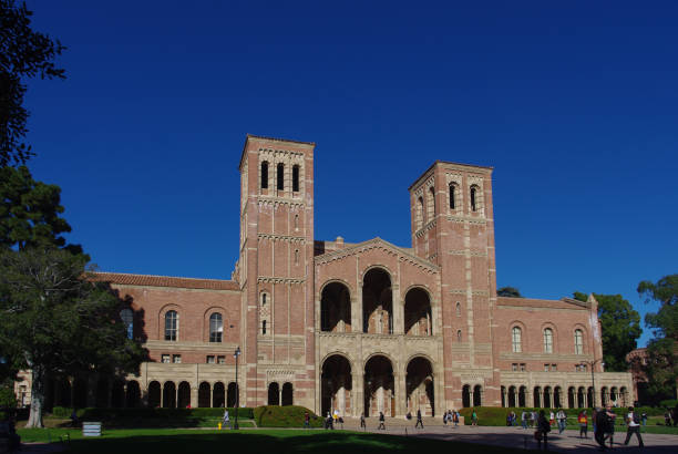 Royce Hall at UCLA Los Angeles, United States - January 5, 2011: Royce Hall on the campus of UCLA. Royce Hall is one of four original buildings on UCLA's Westwood campus. ucla medical center stock pictures, royalty-free photos & images