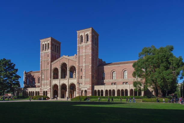 Royce Hall at UCLA Los Angeles, United States - January 5, 2011: Royce Hall on the campus of UCLA. Royce Hall is one of four original buildings on UCLA's Westwood campus. ucla stock pictures, royalty-free photos & images