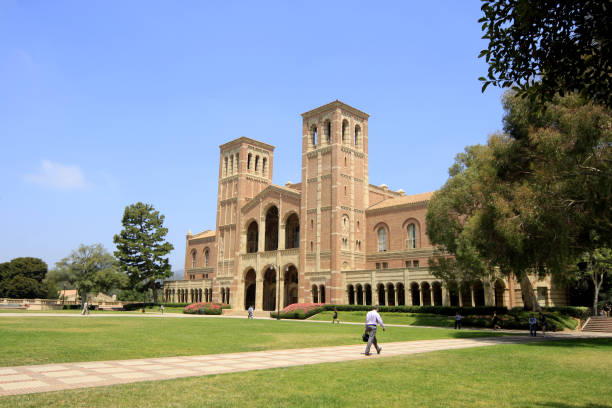 Royce Hall at UCLA - University of California, Los Angeles Los Angeles, United States - July 02, 2012: Royce Hall at UCLA - University of California, Los Angeles. ucla stock pictures, royalty-free photos & images
