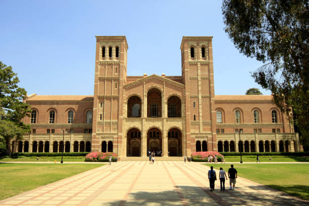 Royce Hall at UCLA - University of California, Los Angeles Los Angeles, United States - July 02, 2012: Royce Hall at UCLA - University of California, Los Angeles. ucla medical center stock pictures, royalty-free photos & images