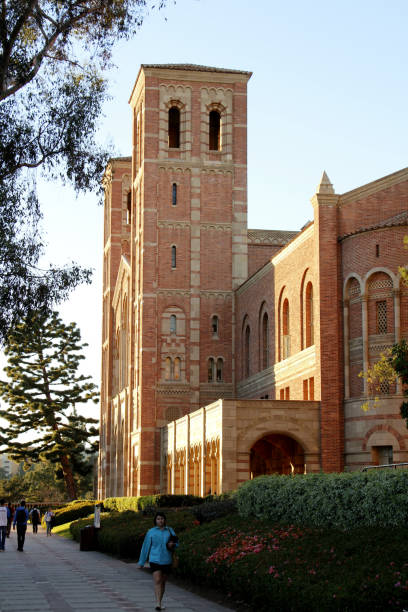 Royce Hall at UCLA - University of California, Los Angeles Los Angeles, United States - January 06, 2014: Royce Hall at UCLA - University of California, Los Angeles.  Students, faculty, and staff members were observed. ucla medical center stock pictures, royalty-free photos & images