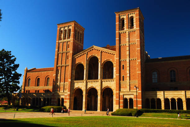 Royce Hall Los Angeles, CA, USA September 23, 2008 Royce Hall occupies a prominent spot on the campus of UCLA in Los Angeles California.  The historic building serves as the live performing arts center. ucla stock pictures, royalty-free photos & images