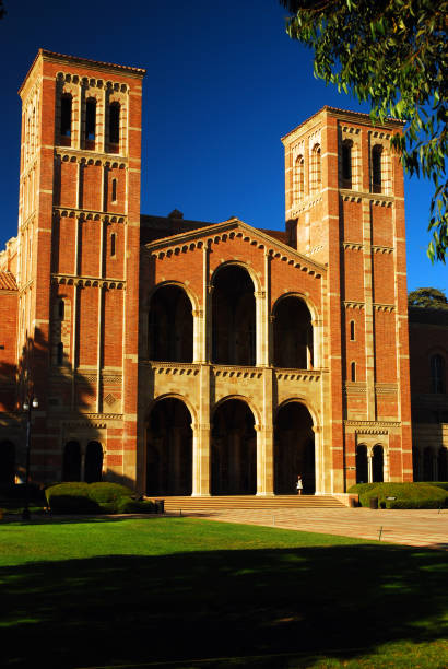 Royce Hall, UCLA Los Angeles, CA, USA September 23, 2008 Historic Royce Hall is the centerpiece of the UCLA campus.  It serves as the center for theatrical performance at the college royce hall stock pictures, royalty-free photos & images