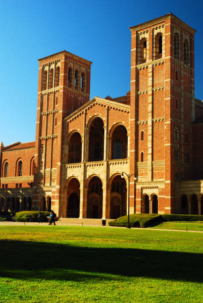 Royce Hall, UCLA Los Angeles, CA, USA September 23, 2008 Royce Hall occupies a prominent spot on the campus of UCLA in Los Angeles California.  The historic building serves as the live performing arts center. ucla stock pictures, royalty-free photos & images