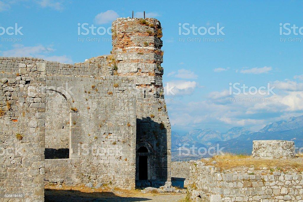 Rozafa Castle Ruins - Shkoder - Albania stock photo