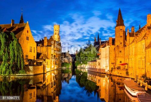 istock Rozenhoedkaai, Bruges in Belgium 511094771