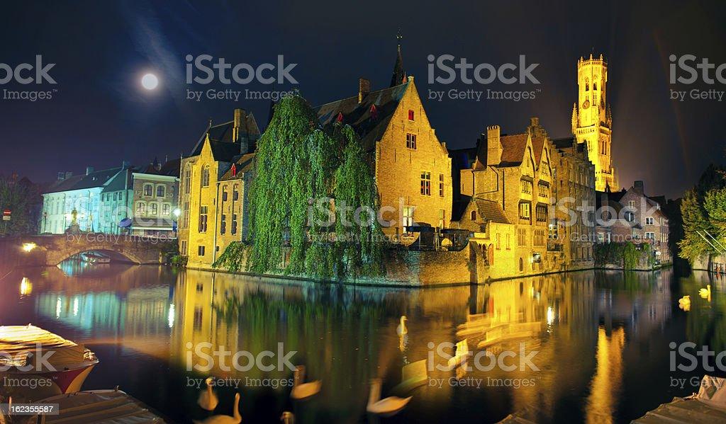 Rozenhoedkaai, Bruges stock photo