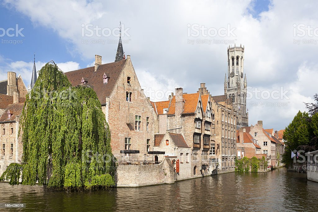 Rozenhoedkaai In Bruges stock photo