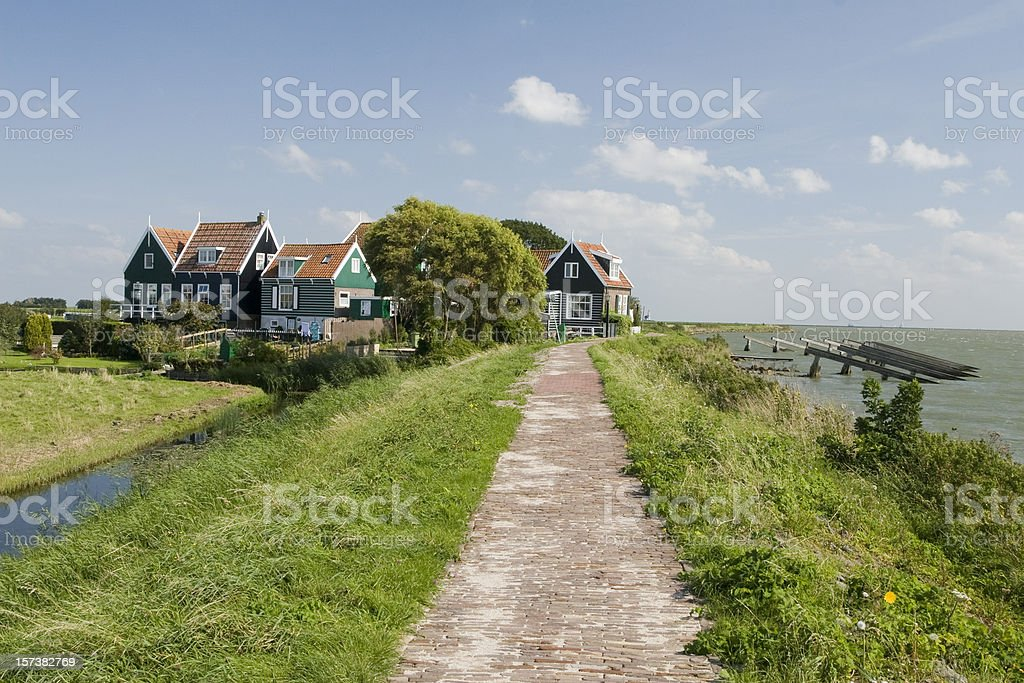 Rozewerf in Marken, The Netherlands royalty-free stock photo