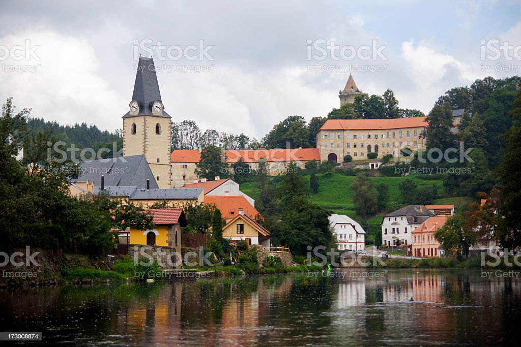 Rozmberk Castle royalty-free stock photo