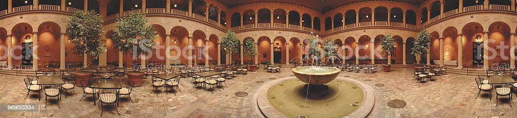 Rozzelle Court Restaurant Nelson Atkins Art Museum royalty-free stock photo