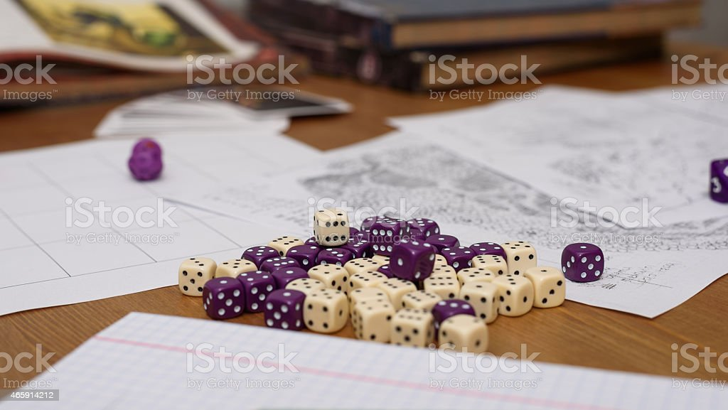 rpg set up on table stock photo