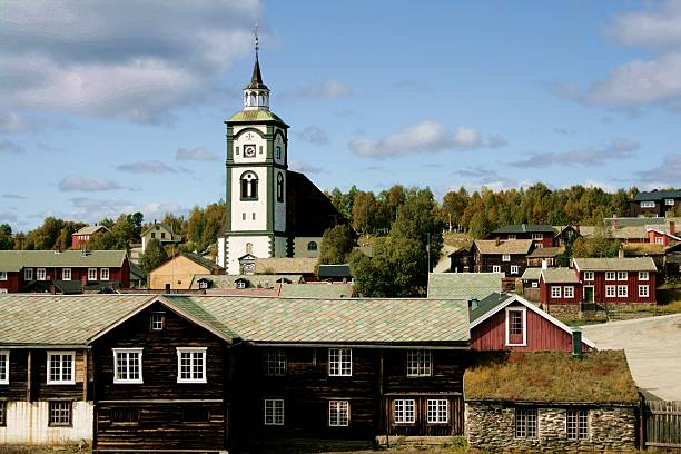 Røros Norway stock photo