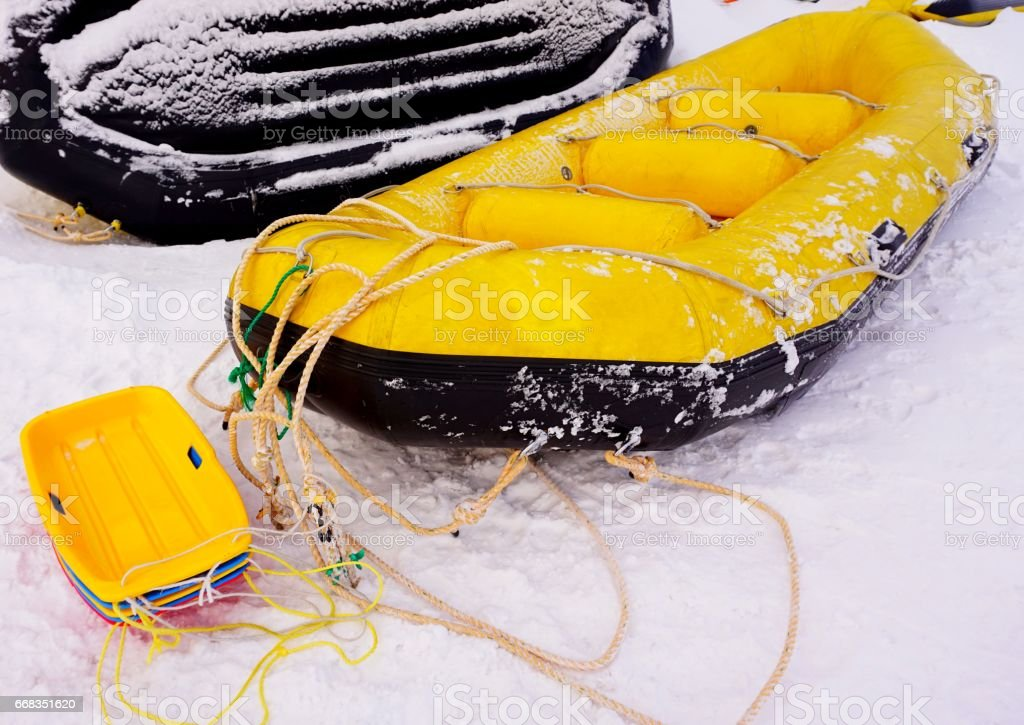 Rrubber Inflatable Boat Pvc Stock Photo - Download Image Now