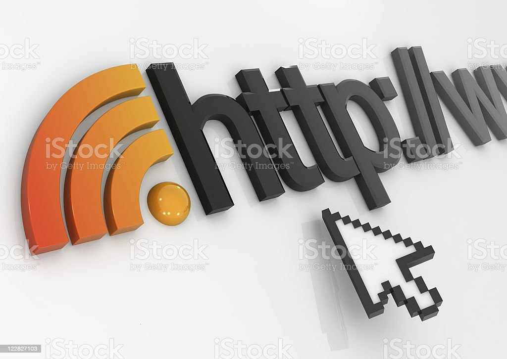 Rss Internet Concept stock photo