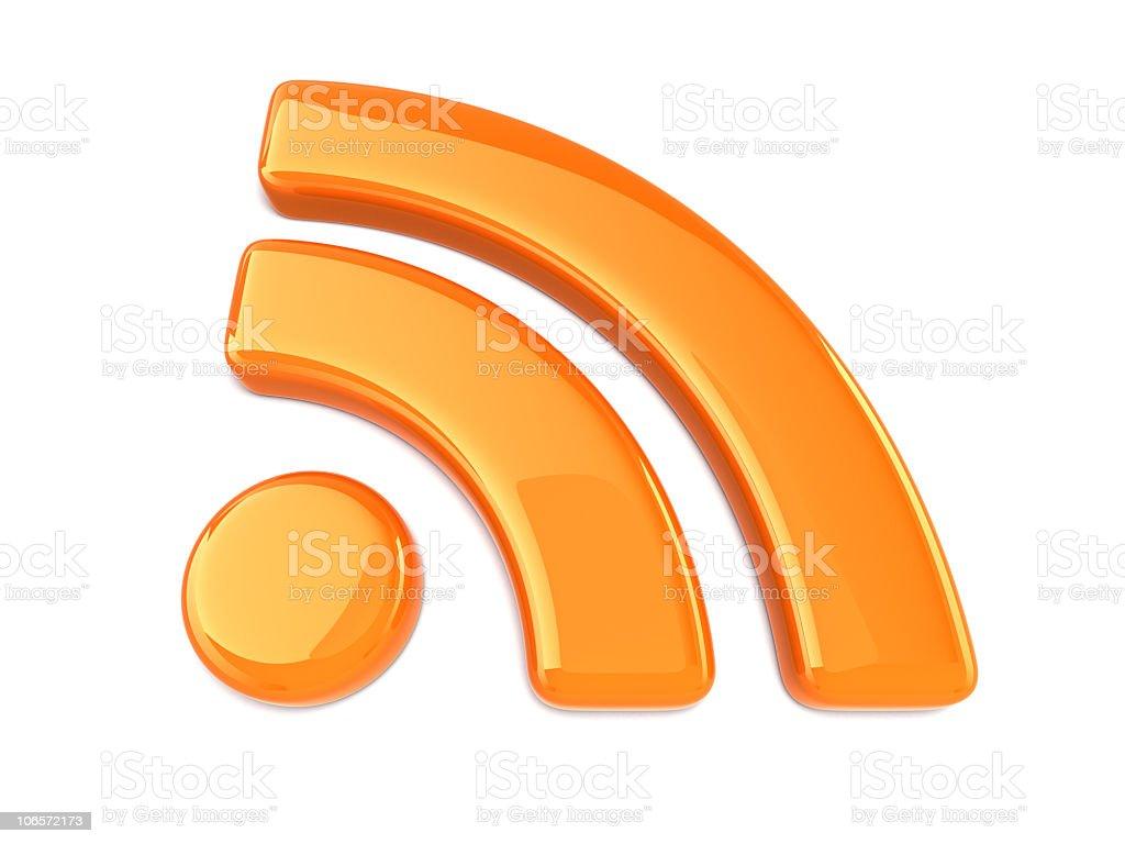 rss logo isolated stock photo