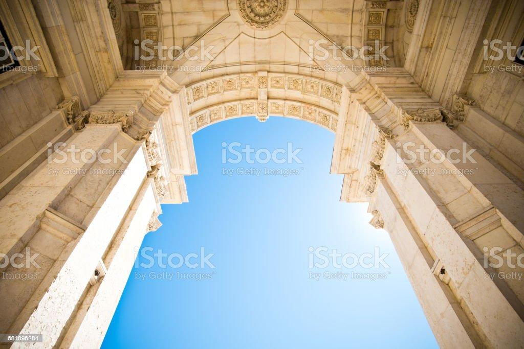 Rua Augusta Arch in Lisbon, Portugal stock photo