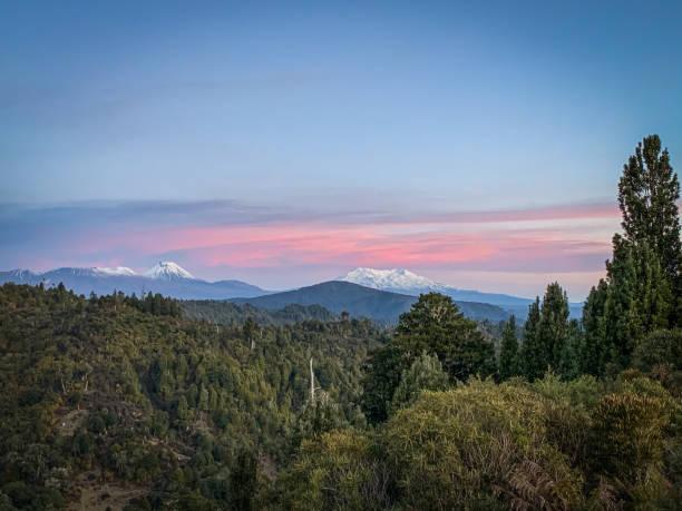 Ruapehu & Tongariro Mountain stock photo