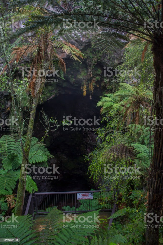 Ruatapu Cave or Sacred cave. One of only two geothermaly situated caves know in the world stock photo
