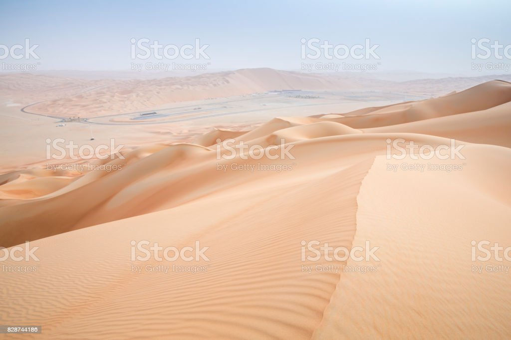 Rub al Khali Desert at the Empty Quarter, in Abu Dhabi, UAE stock photo