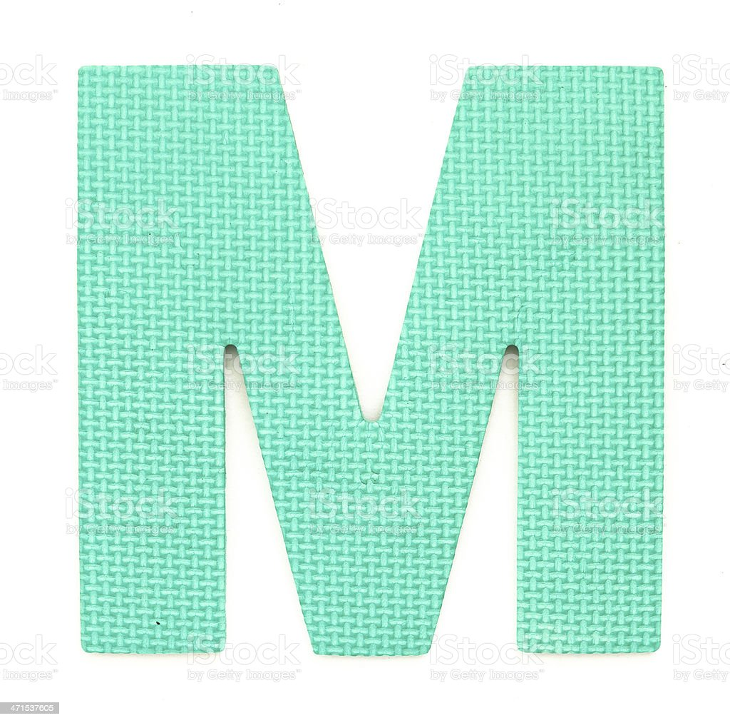 Rubber alphabet M isolated royalty-free stock photo