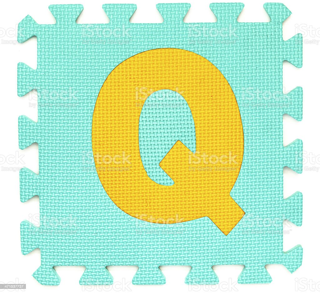 Rubber alphabet Q isolated royalty-free stock photo
