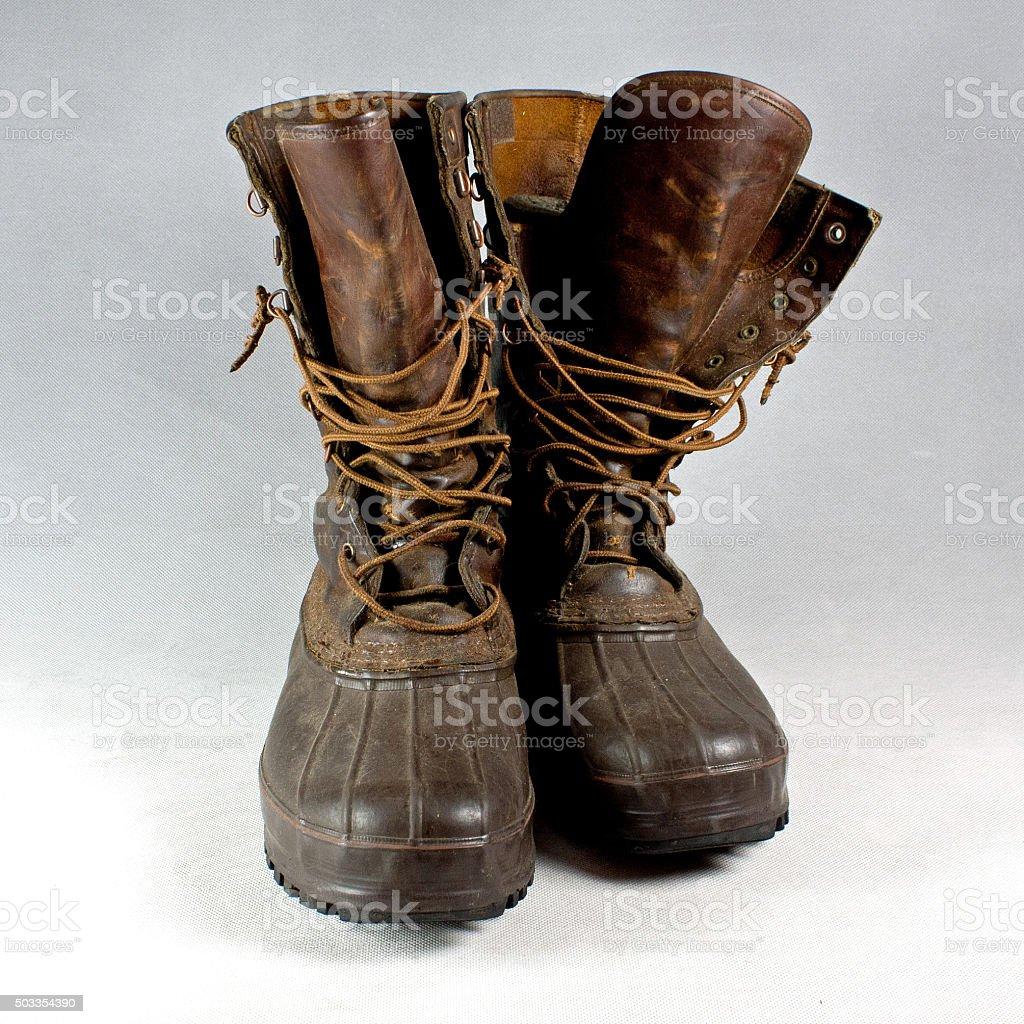 De Cuir Chasse Chaussures En Et Caoutchouc Droit Libre Photo
