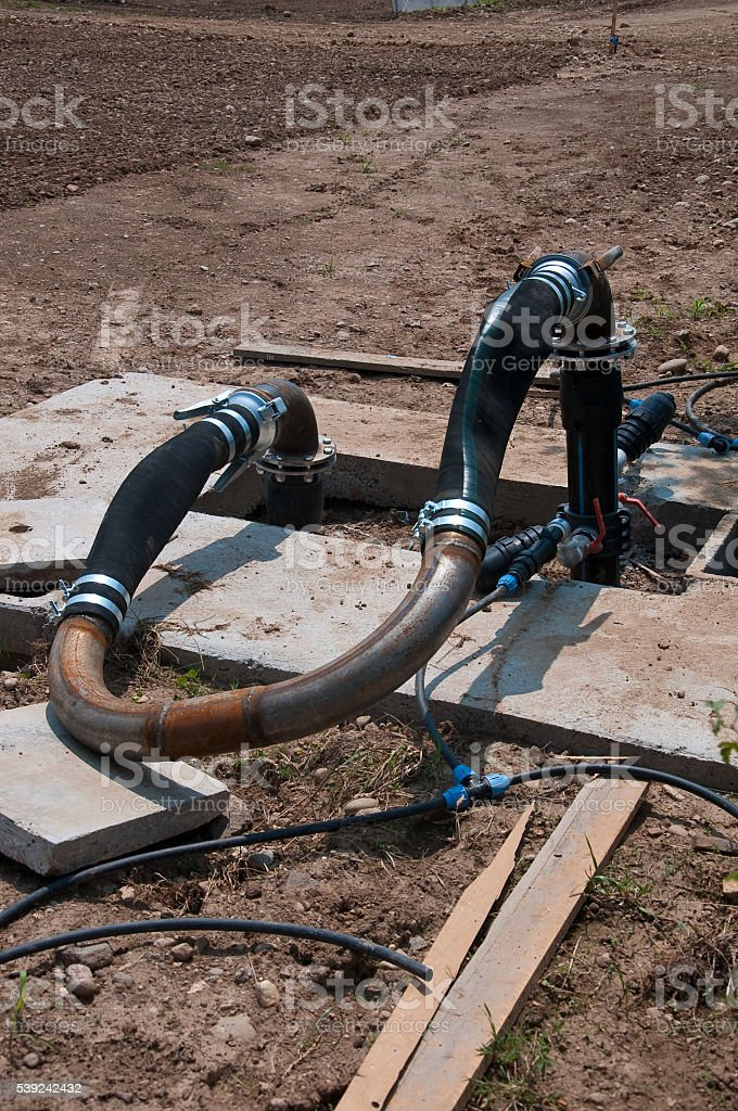 Rubber and metal tube that is used to control royalty-free stock photo