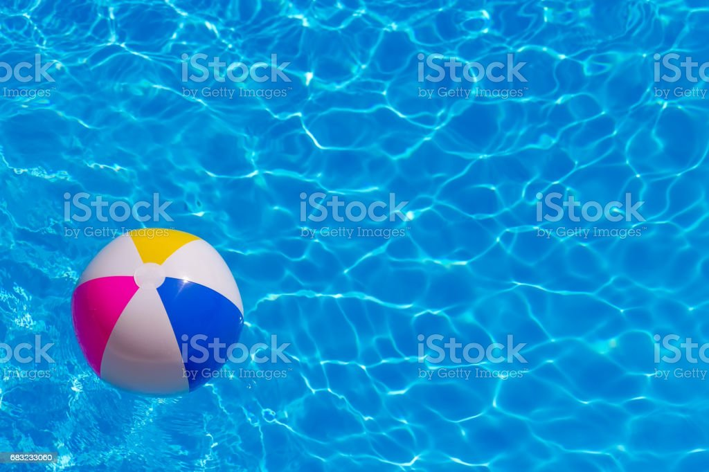 Rubber ball in the pool - Photo